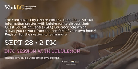 Lululemon Virtual Info Session tickets