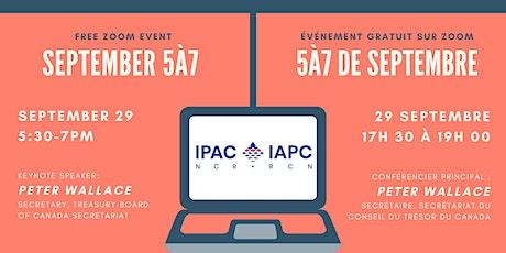 IPAC-NCR September 5 à 7 / IAPC-RCN 5 à 7 de septembre tickets