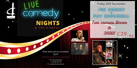 Comedy Night with Joe Rooney & Pat McDonnell @ The d Hotel tickets