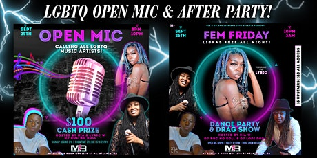 LGBTQ Open Mic w/  $100 Cash Prize & After Party tickets