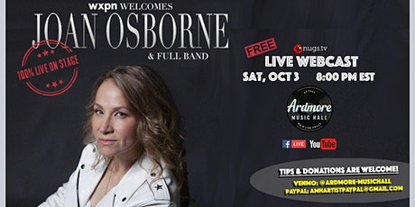 Joan Osborne With Band LIVE On Stage Webcast tickets