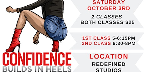 Confidence Builds In Heels Cincinnati (OCTOBER 3RD 2020 Class) tickets