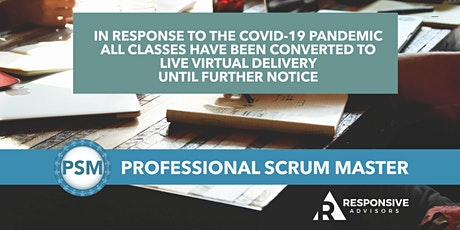 2-Day Professional Scrum Master Certification (PSM) - Eastern Time Zone tickets