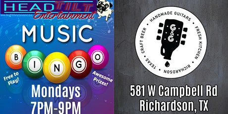 Music Bingo at Guitars and Growlers - Richardson, TX tickets
