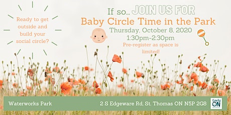 EarlyON Baby Time Circle in the Park (October 8 - Waterworks Park) tickets