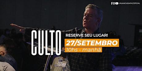 CULTO MANHÃ | Domingo 27/Setembro ingressos
