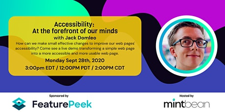 A Conversation with Jack Domleo: Accessibility at the Forefront of Our Mind tickets