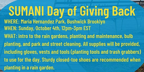 SUMANI Day of Giving Back tickets