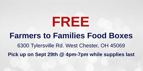 Farmers to Families Food Box Giveaway - Sept 29 tickets