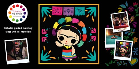 Museica's  VIRTUAL Sip & Paint - FRIDA DOLL  (ONLINE CLASS) tickets