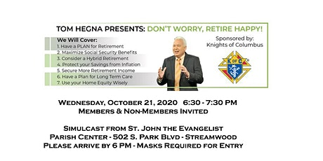 Tom Hegna Presents Don't Worry Retire Happy tickets