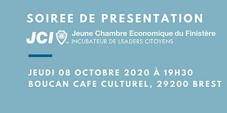 Soirée de Présentation de la Jeune Chambre Economique du Finistère billets