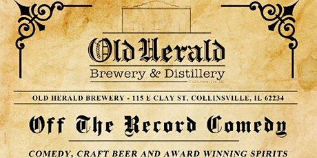Off The Record Comedy At Old Herald Brewery tickets