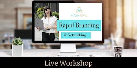 Rapid Branding & Networking Live Workshop För Kvinnliga Företagare biljetter