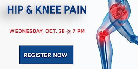 WEBINAR: Hip and Knee Pain tickets