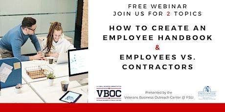 How to Create an Employee Handbook AND Contractors vs. Employees Webinars tickets