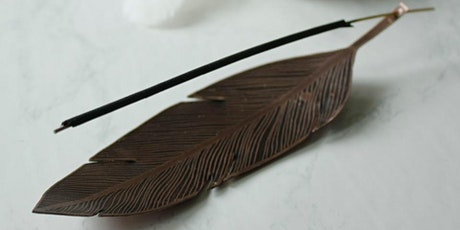 Etched Copper Incense Dish, Feather or Leaf tickets