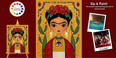 Museica's VIRTUAL  Sip & Paint - FRIDA KAHLO (ONLINE CLASS) tickets