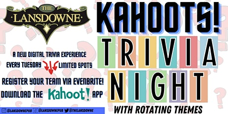 The Halloween Movies Trivia w/ Kahoot! At The Lansdowne Pub! tickets