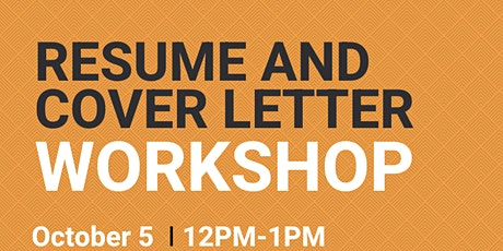 Virtual Resume and Cover Letter Workshop tickets