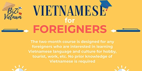 Vietnamese Language Course for Adults tickets
