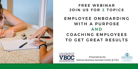 Employee Onboarding With a Purpose  AND Coaching Employees to Get Results tickets
