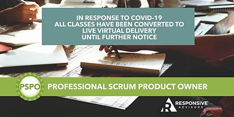 2-Day Professional Scrum Product Owner (PSPO) - Eastern Time Zone tickets