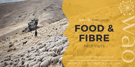 Food & Fibre Field Visits  | Criffel Station Departure tickets