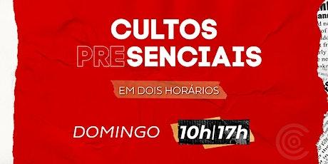 CULTO DE CELEBRAÇÃO - DOMINGO (27/Setembro) - Manhã - 10h ingressos
