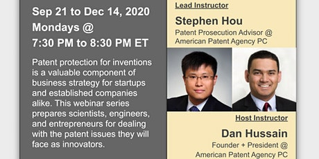 Patent Strategy for Entrepreneurs: Virtual Webinar Series @ MIT tickets