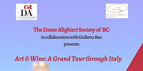 Art & Wine: A Grand Tour through Italy tickets