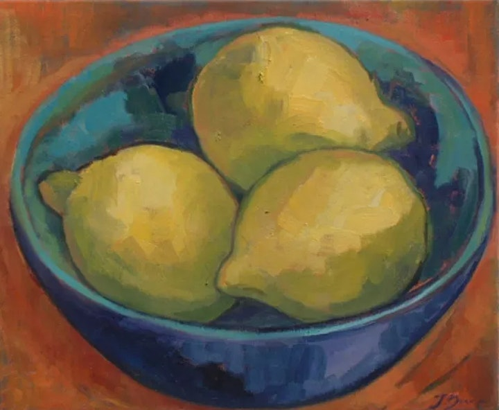 Paint a Bowl of Lemons - no drawing skills needed image