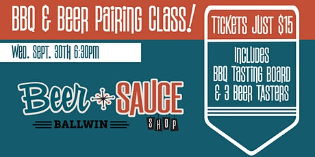 BBQ and Beer Pairing Class tickets
