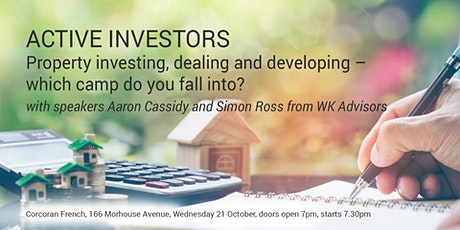 Property investing, dealing and developing – which camp do you fall into? tickets