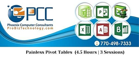 Painless Excel Pivot Tables | Live, Online Class tickets