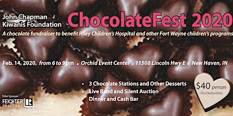 Ft. Wayne ChocolateFest 2021 hosted by the Kiwanis Club of John Chapman Fdn tickets