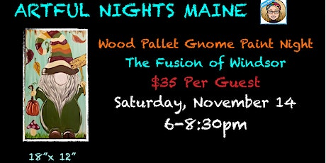 Wood Pallet Gnome Paint Night at The Fusion of Windsor tickets