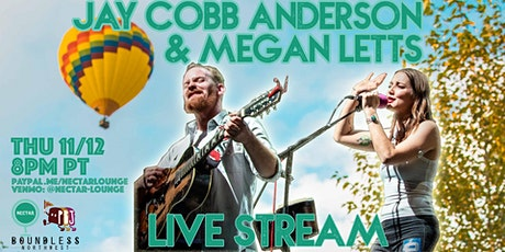 NVCS presents JAY COBB ANDERSON (of Fruition) MEGAN LETTS [LIVE STREAM] tickets