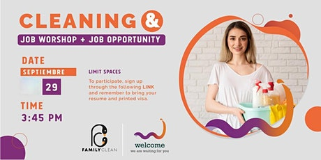 Cleaning and Job Workshop + Job Opportunity tickets