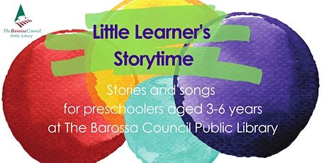Barossa Libraries Storytime - Nuriootpa - Term 4 2020 tickets