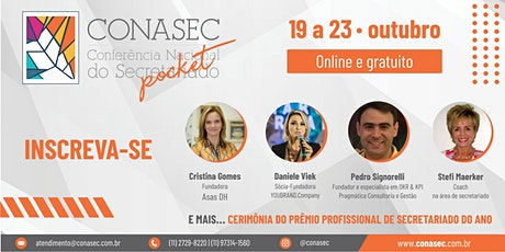 [CONASEC] Conferência Nacional do Secretariado - Edição Pocket bilhetes