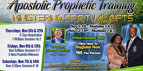 Ministering Spiritual Gifts (MSG) - Modules 1-4 (2 Dates) tickets