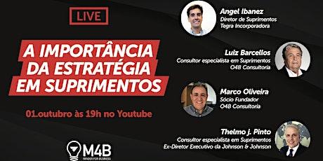 [Live] A importância da estratégia em suprimentos (01/10 às 19h00) ingressos