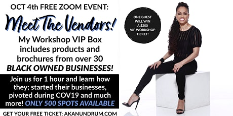 Meet The Vendors for AKAnundrum's Workshop tickets