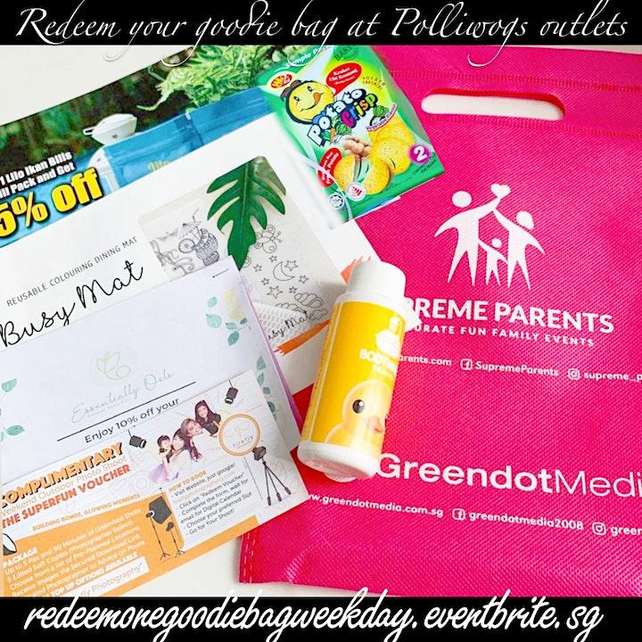 Redeem 1 Goodie Bag at Polliwogs on Weekdays (play image