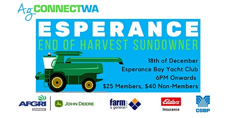 AgConnectWA Esperance End of Harvest Sundowner tickets