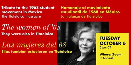 THE WOMEN OF  '68 THEY WERE ALSO IN TLATELOLCO tickets