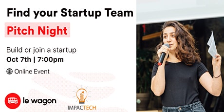 Find Your Startup Team: Pitch Night tickets