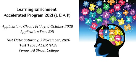 Learning Enrichment Accelerated Program 2021(LEAP) tickets