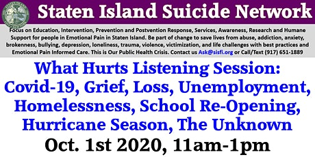 Staten Island Suicide Network, Suicide Safe Sites, Zero Suicide Initiative tickets